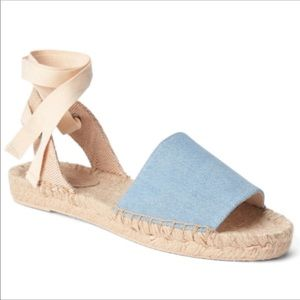 Gap Lace Up Espadrille Canvas Denim Sanados